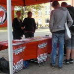 Antifa Infostand am 4. Mai in Harburg