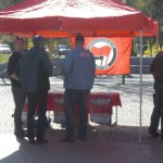 Antifa Infostand am 1. Mai in Uelzen